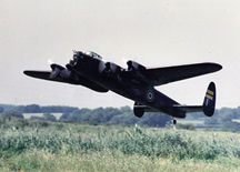 Peter Morgan's Avro Lancaster with the wheels digitaly removed