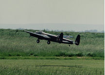 Terry Pink's lanc on takeoff.